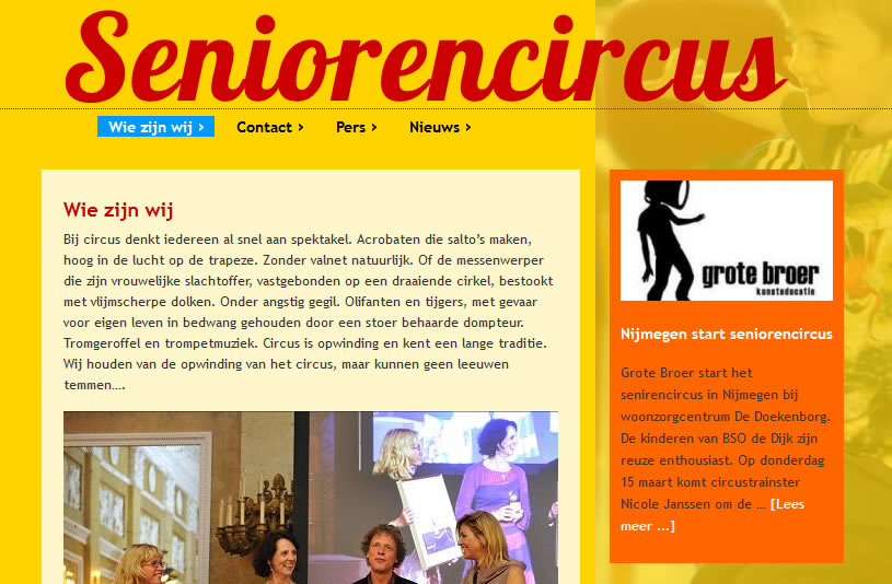 wordpress-website-seniorencircus
